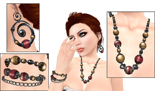 Antiquarian Jewelry Set from Amorous