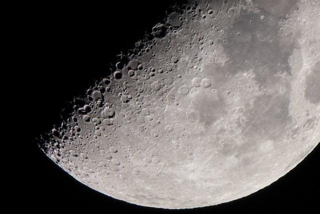 X mark on today's moon