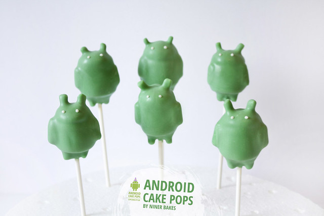 Cute Android Robot Cake Pops