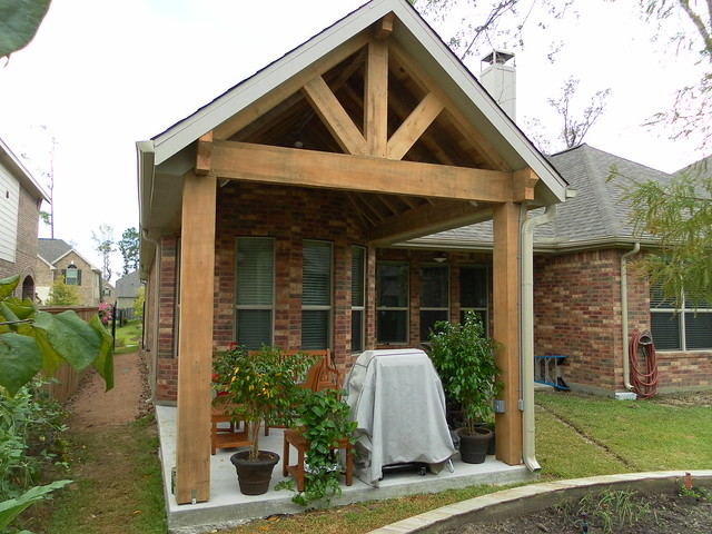 Creekside The Woodlands Rustic Cypress Patio Cover Addition | Flickr ...