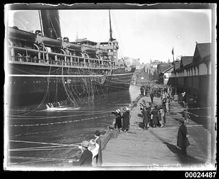 Departure of RMS CORFU