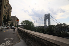 Bicycling towards George Washington Bridge