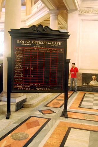 Jeden Tag wurden an der Börse die Kaffeepreise ausgehandelt