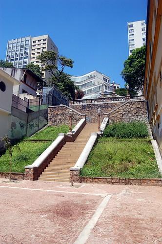 Eine Freitreppe an der Grenze zu Bela Vista