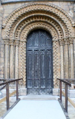 Carved Entrance Door at Lincoln Cathedral
