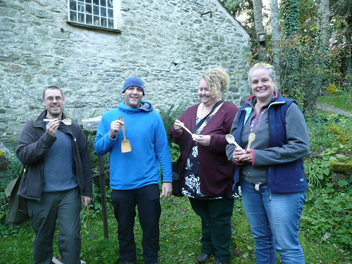 Spoon carving course group