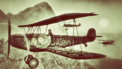 Fokker D.VII Jagdflugzeuge 1918