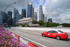 Transcab taxi on Esplanade bridge