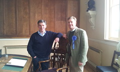27/10/12 With Rt Hon Hugh Robertson, MP for Faversham and Mid Kent at the Guildhall Faversham