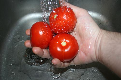 19 - Tomaten waschen / Wash tomatoes