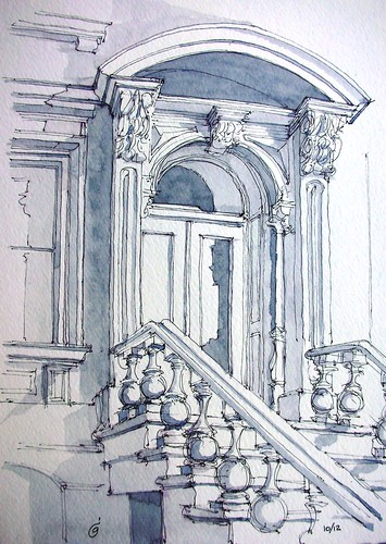 6th Ave Italianate Entrance by James Anzalone