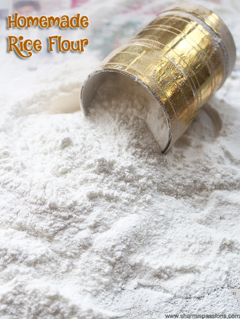 Making rice flour at home recipe