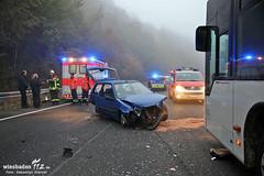 Schwerer Unfall B455 Naurod 29.10.12