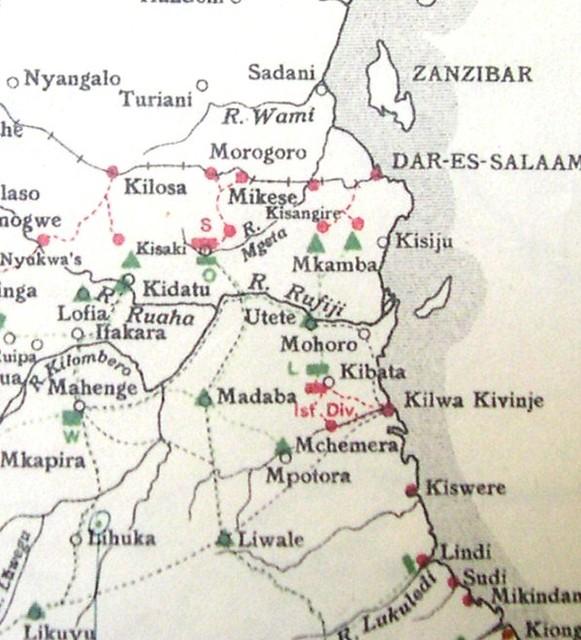Kibata area - the strategic situation on 20th December 1916