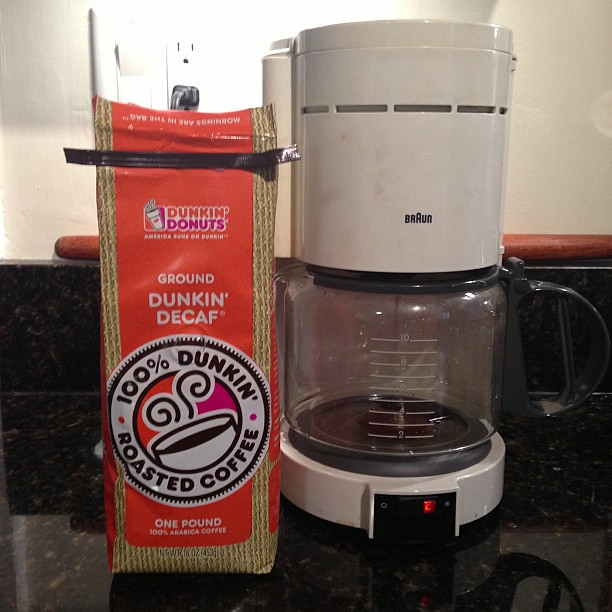 Time to make the @dunkindonuts coffee! #sandy