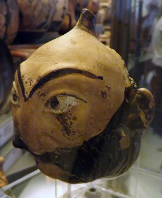 Askos Shaped with Two Grotesque Male Faces in the Vatican Museum, July 2012