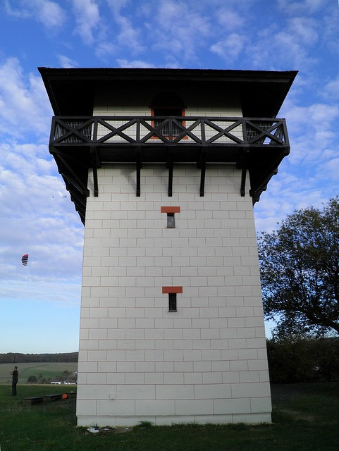 Limes WP 3/26, The reconstructed watchtower of Idstein Dasbach, one of the most original replicas of the Limes, built in 2002