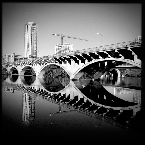 Lamar Bridge in B&W