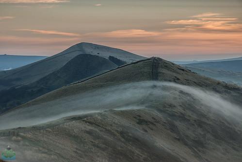 england mist sunrise hope unitedkingdom derbyshire peakdistrict peaks edale castleton losehill backtor greatridge