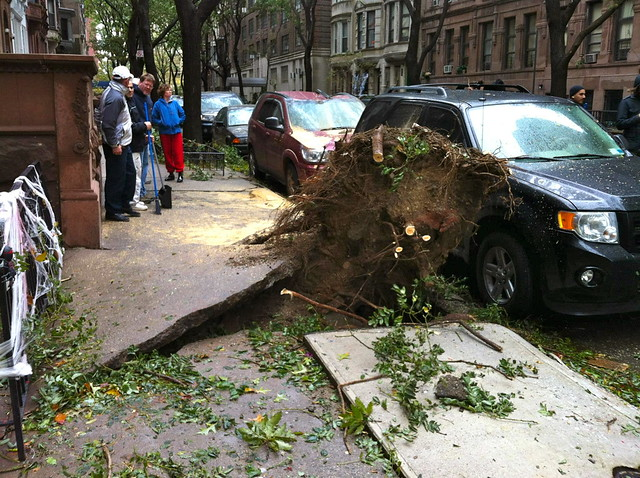 Hurricane Sandy Upper West Side of Manhattan, NYC