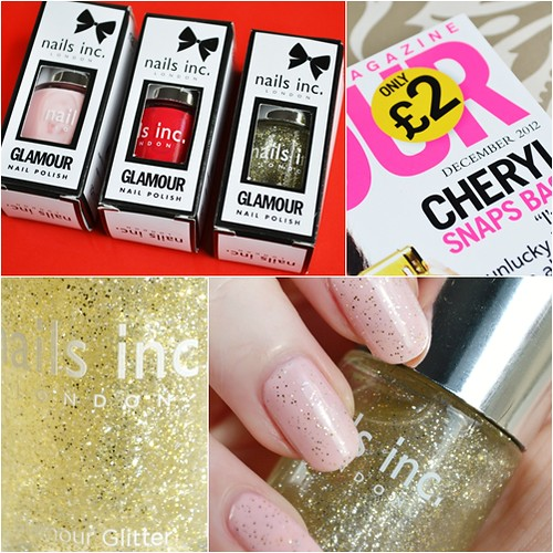 Glamour mag nails inc glamour glitter 2012