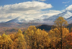 Autumn Snow in the Smokies -  Great Smoky Mountians National Park by Michigan Nut