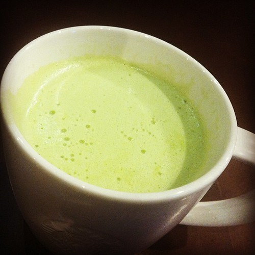 Heaven in a cup. matcha latte