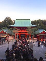 近江神宮で初詣。