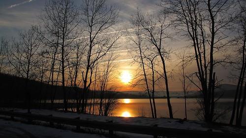 lake water sunrise pond reservoir smack53