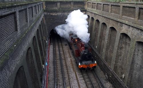 Steam train at Bayswater