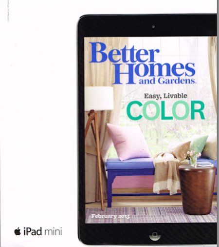 Better Homes and Gardens, iPad, February 2013