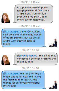 Twitter thread with Krista Tippett on creativity and art