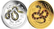 Snake coins Perth mint