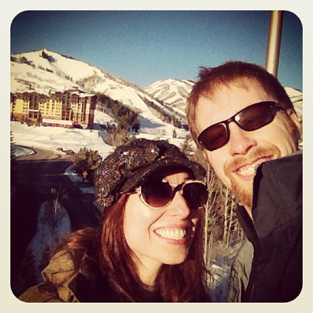 Just arrived at @thecanyons for a day of snowboarding + Sundance!