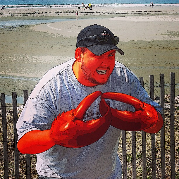 Lobster Boy. #photoshop #lobster #red #humor #funny | Flickr - Photo Sharing!