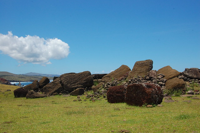 Fallen Moai at Ahu Vinapu