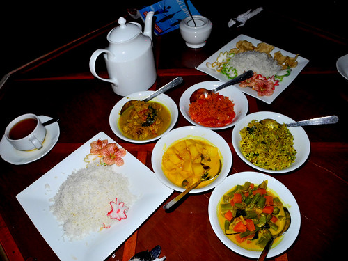 Dinner in Nuwara Eliya