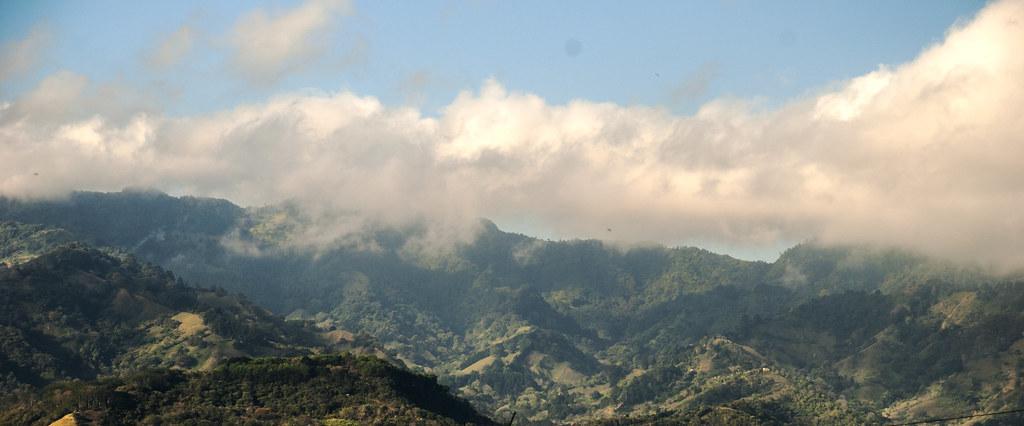 Mountains from Parque Copa, San Jose, Costa Rica