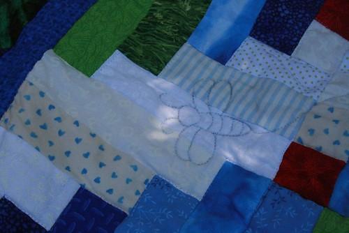 Firefly quilt closeup