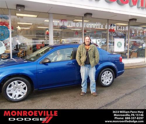 Congratulations to Adam Suhajda on the 2013 Dodge Avenger by Monroeville Dodge