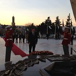 David Cameron: PM lays a wreath at Martyrs Monument in Algiers
