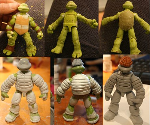 MICHAELANGELO #1, TEENAGE MUTANT NINJA TURTLE #1 { ORIGINAL MICRO-SERIES } :: Michaelangelo and Klunk 1985 Custom Action Figures vi by  Kevlar Palsh // ..work detail (( 2012 ))