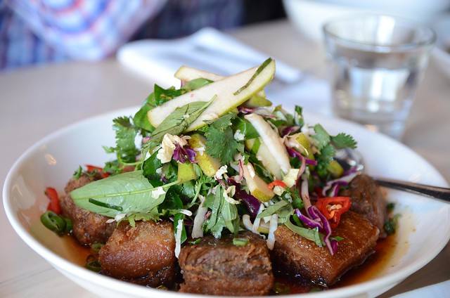 Crispy Five Spice Pork Belly with Pear Slaw - Red Spice Road QV ...