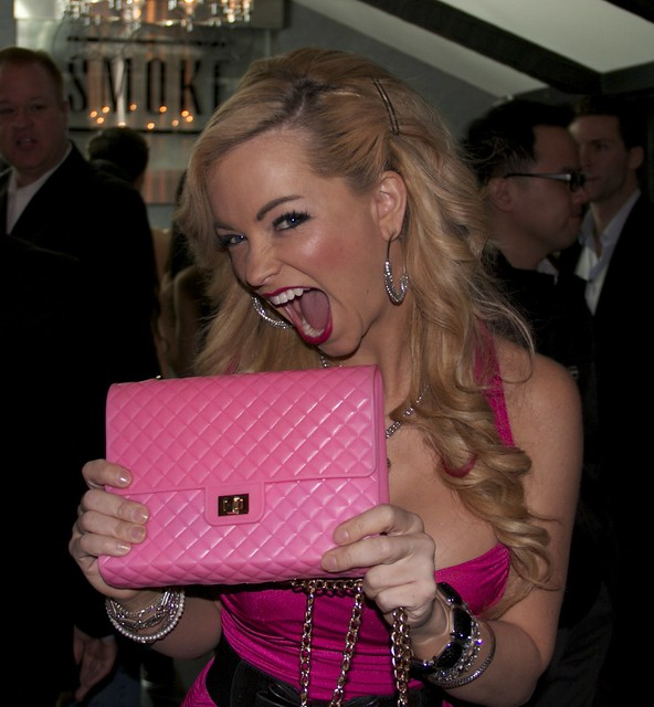 "Mindy Robinson Actress, enjoying some SWAG from PopMolly, A Place Called Hollywood"" Wrap Party"