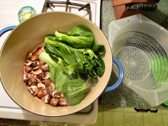 Bok Choy and Mushrooms