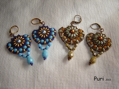 Pendientes Sunflowers by Pureza52