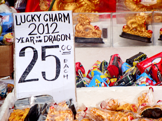 Lucky charms at Divisoria
