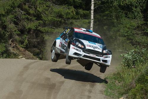 finland motorsport nesteoilrallyfinland rally rallyfinland rallye sport wrc 2016 action worldcars karlkruuda martinjärveoja fiesta ford jump air race rallying car dmack r5 d800
