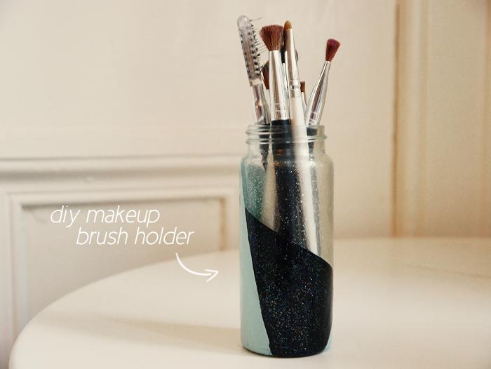 diy makeup brush holder 1