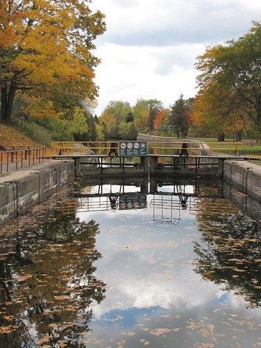 View of the lock